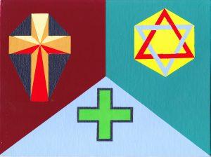 Acrylic-Crosses (18 x 24 cm)